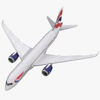 Boeing 787-3 British Airways Rigged 3D Model