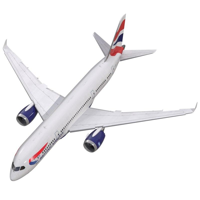 boeing 787 3 british airways 3d model
