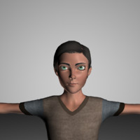 3d model broderick toon animations