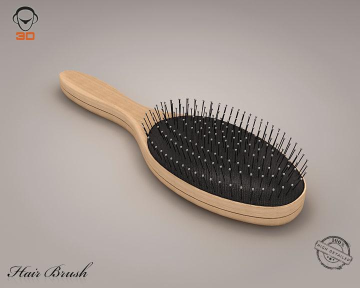 3d hair brush