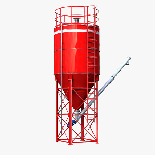 cement silo conveyor 3ds