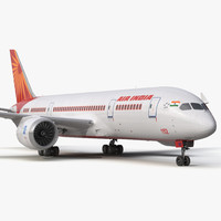 Boeing 787-3 Dreamliner Air India 3D Model