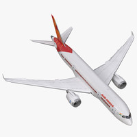 Boeing 787-3 Air India Rigged 3D Model