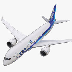 3d model boeing nippon airways rigged