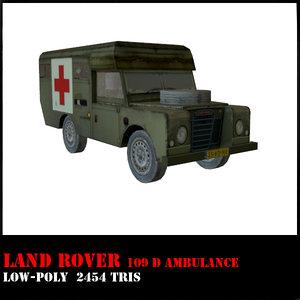 land rover defender 109 3d max
