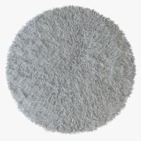 3d fur rug