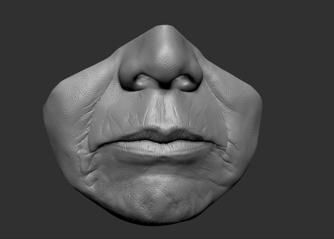 head parts lips 3d obj