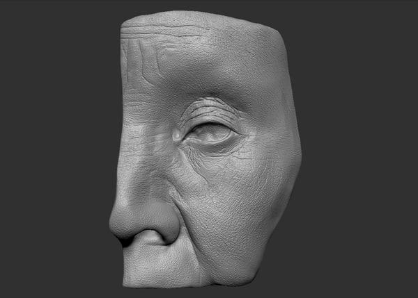 head parts eye obj