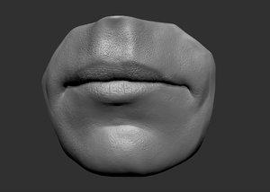 3d model head parts lips