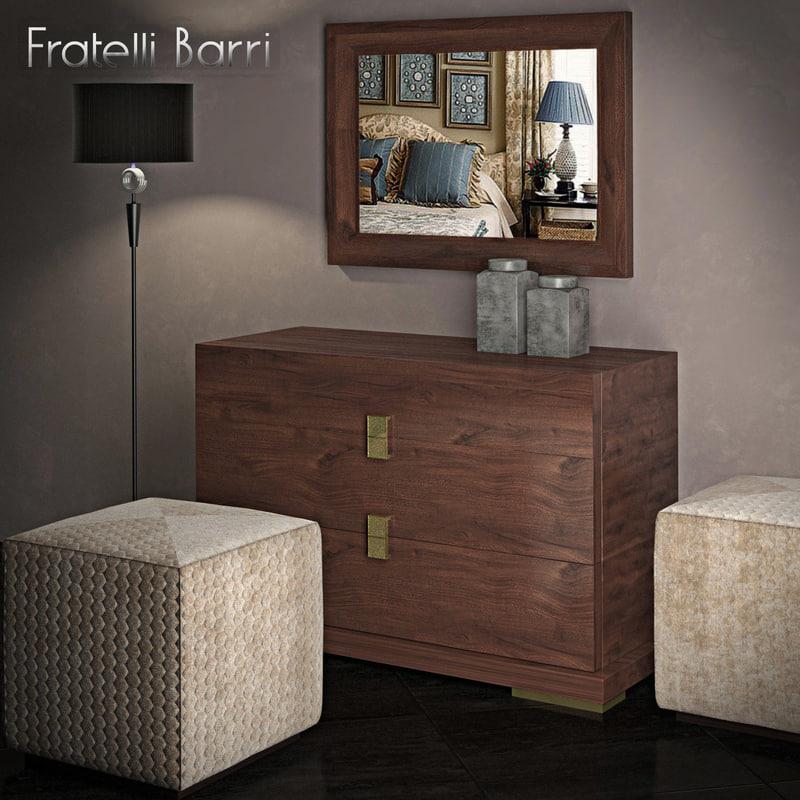 floor lamp chest drawers 3d model
