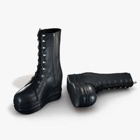 women s boot 3d max