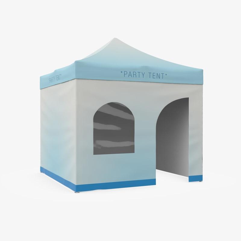 3d party tent