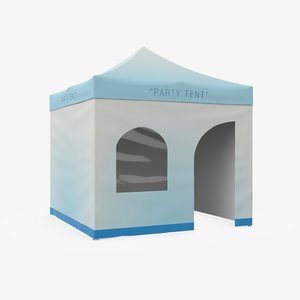 party tent 3d model