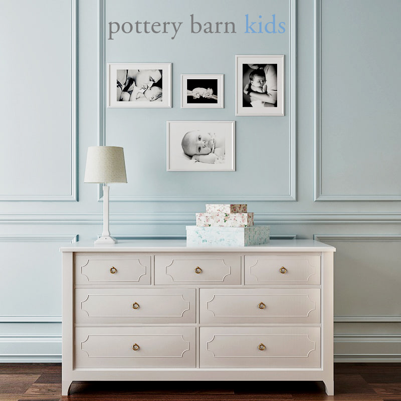 pottery barn ava regency 3d model
