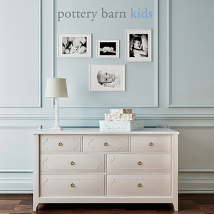 pottery barn ava regency 3d model