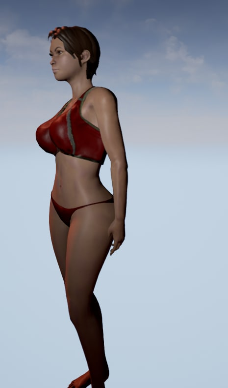 3d female character unreal engine