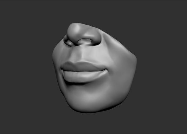 3d lips ztl zbrush model