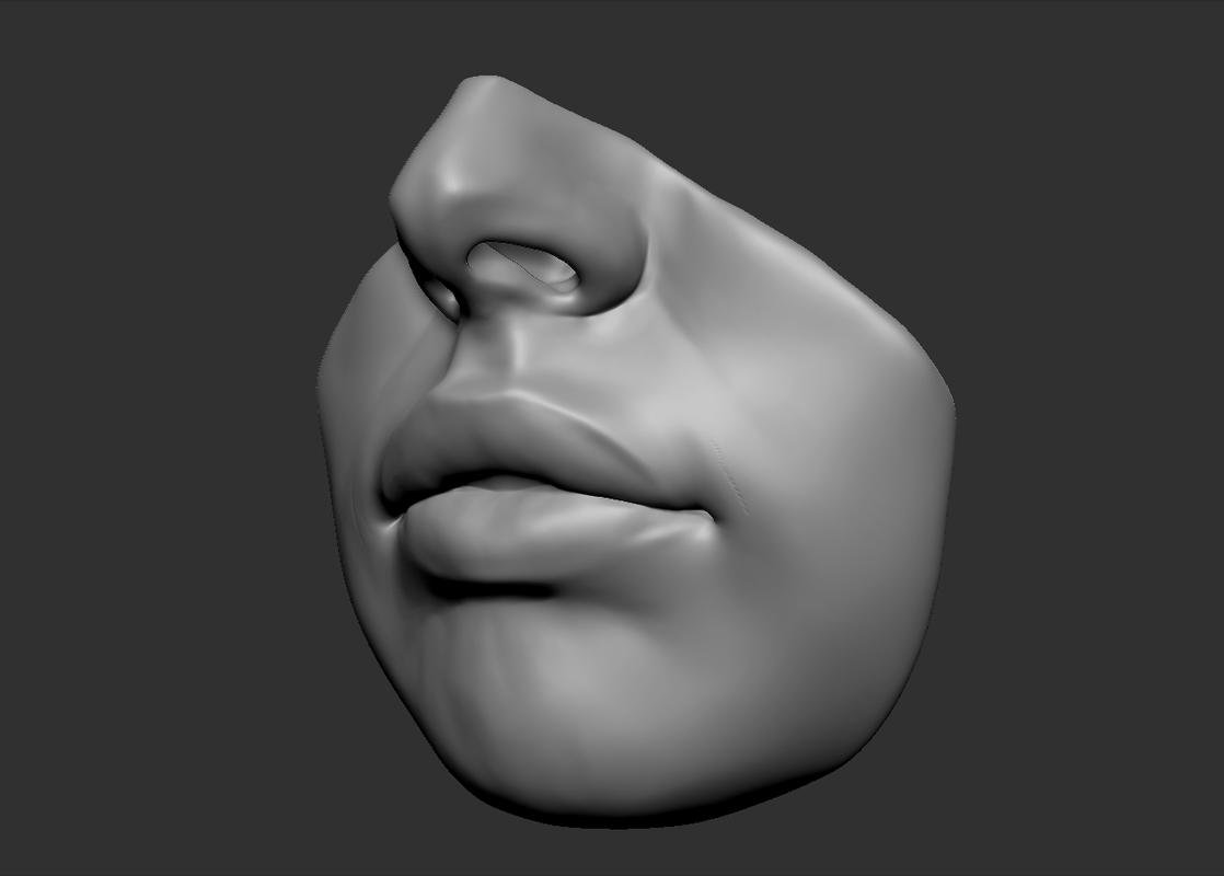3d beaty lips model