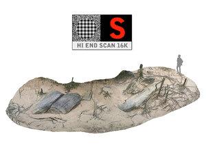 3d model of jungle rock ground 16k