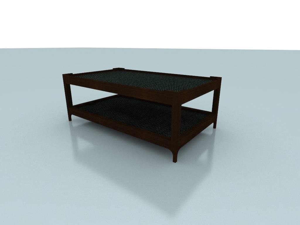 ryn coffee table 2 3d model