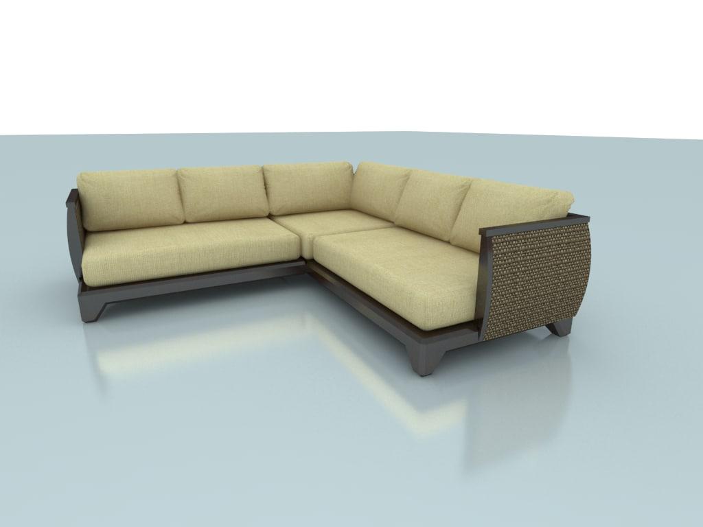 3d model ryn sofa