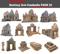 3d model red temple pack 12