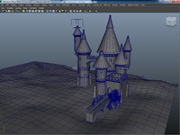 3d castle render model
