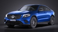mercedes glc coupe 3d model