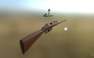 1891 carcano rifle 3d obj