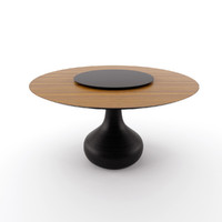 cattelan table 3d model