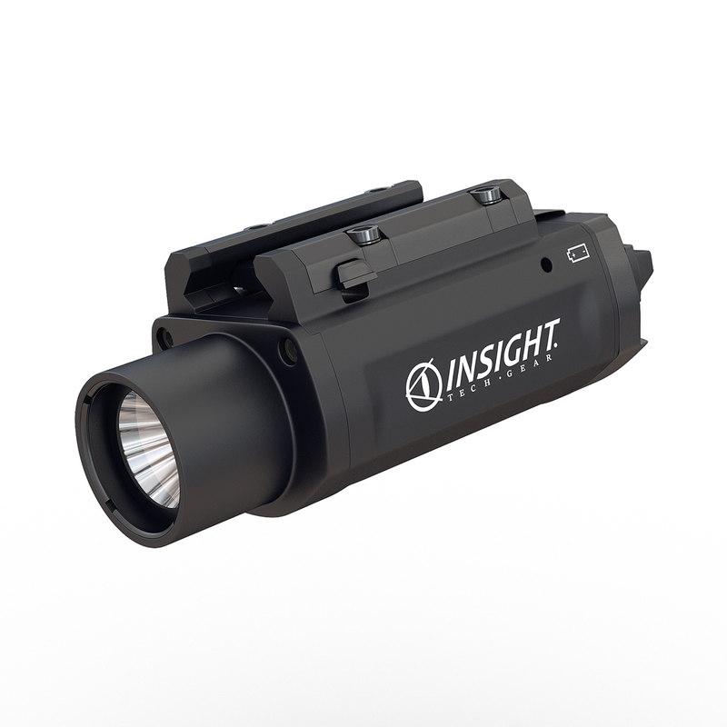 led tactical weapon light 3d model