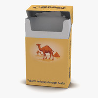 Opened Cigarettes Pack Camel 2 3D Model