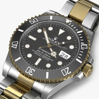 Rolex Submariner Date Black Dial 3D Model