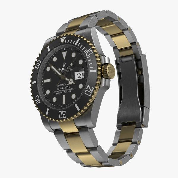 rolex submariner date 2 c4d