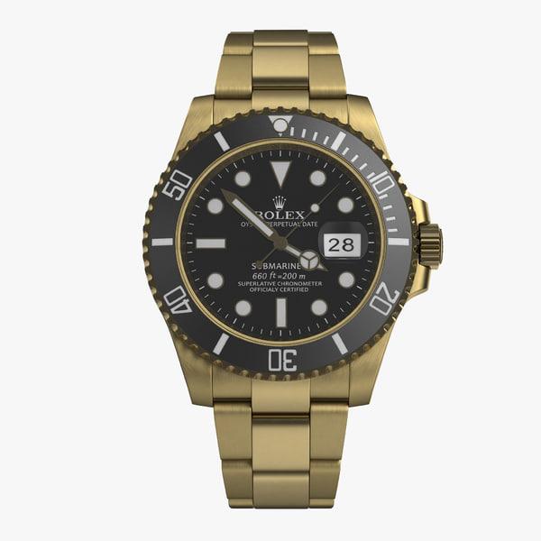 3d model rolex submariner date 2