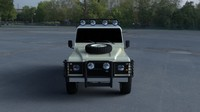 3d model of land rover defender 110