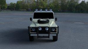 3d model of land rover defender 110