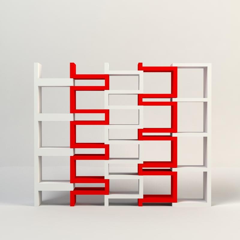 acrylic shelves 3d model