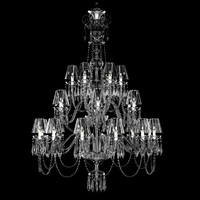 Waterford Ardmore 24-Arm Chandelier with Crystal Shades