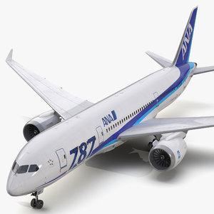 3d boeing 787 3 nippon model