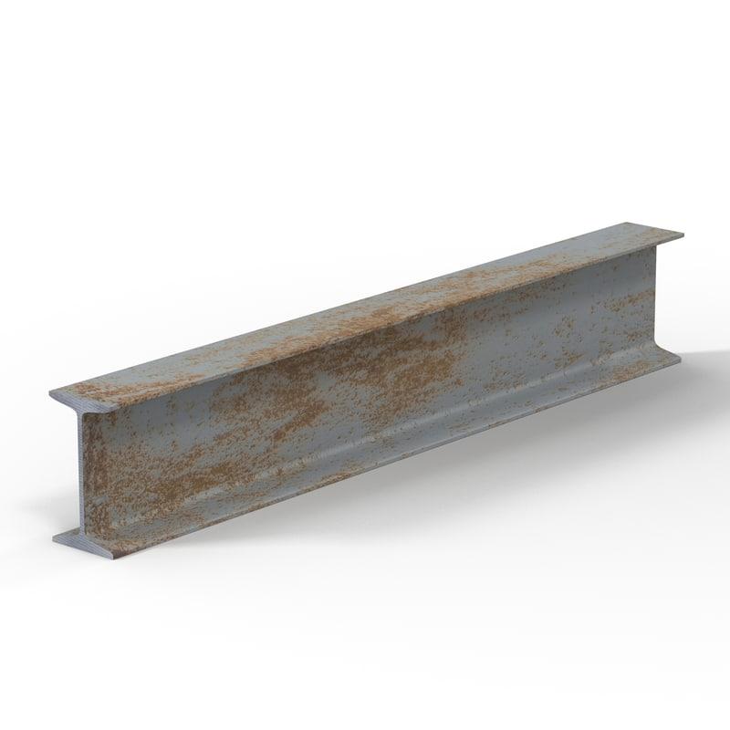 3d model iron beam