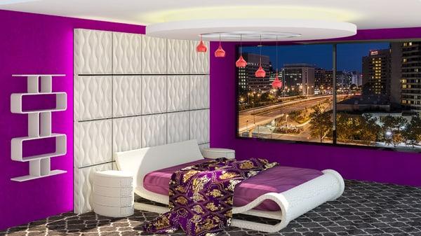 3d model bedroom interiors