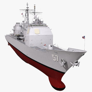ticonderoga class cruiser lake 3d max
