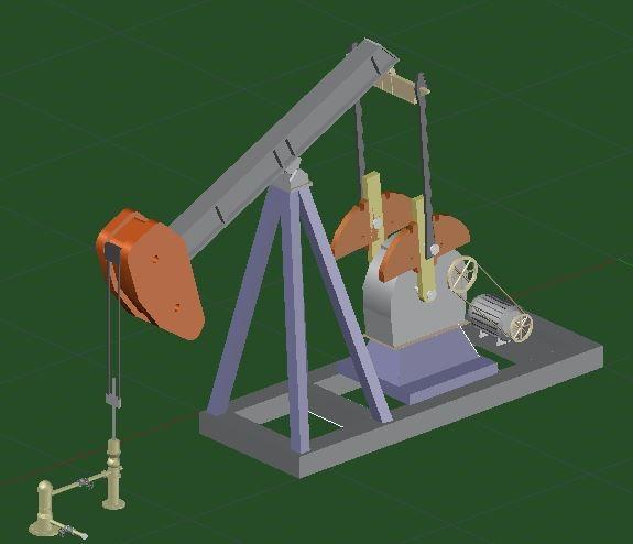 pump jack 3d dwg