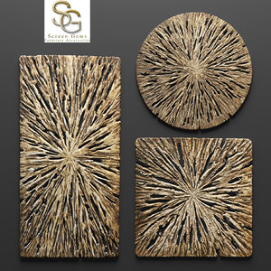 rotten wood wall art 3d max