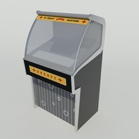 retro jukebox 3d model