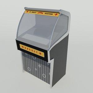 retro jukebox 3d model
