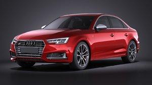sedan audi 2017 3d model