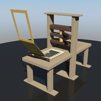 gutenberg press 3d obj