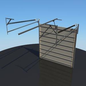 door garage opening 3d model